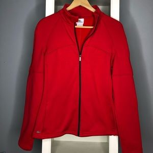 Lacoste -red- light weight jacket -Small